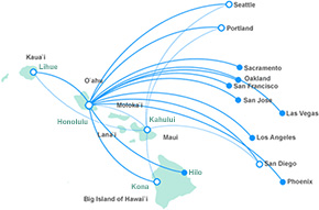 Hawaiian Flight Routes